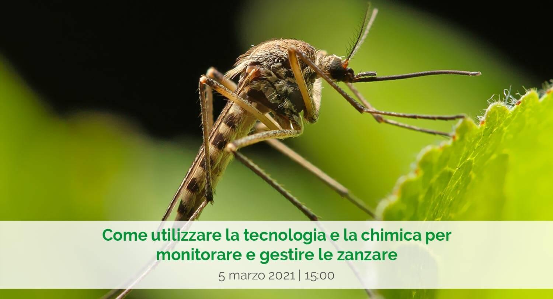"""NUOVO WEBINAR: """"Come utilizzare la tecnologia e la chimica per monitorare e gestire le zanzare"""""""